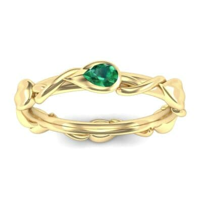 Honeysuckle Vine Emerald Ring (0.22 Carat)