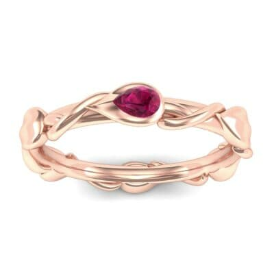 Honeysuckle Vine Ruby Ring (0.22 Carat)