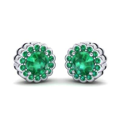 Sunflower Emerald Earrings (1.24 Carat)