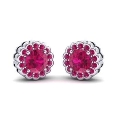 Sunflower Ruby Earrings (1.24 Carat)