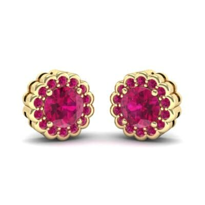Sunflower Ruby Earrings (1.24 Carat)