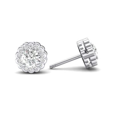 Sunflower Crystal Earrings (1.07 CTW) Top Dynamic View