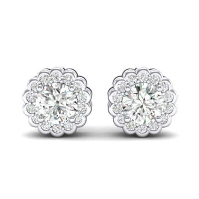 Sunflower Crystal Earrings (1.07 CTW) Side View