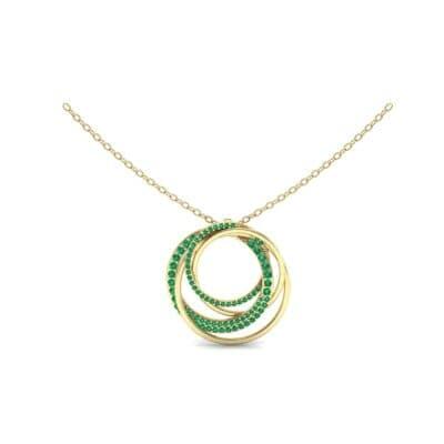 Cosmos Pave Emerald Pendant (0.93 Carat)