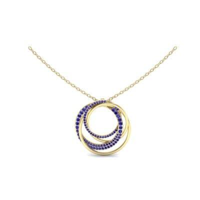 Cosmos Pave Blue Sapphire Pendant (0.93 Carat)