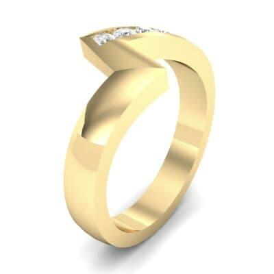 Asymmetrical Channel-Set Diamond Ring (0.18 Carat)
