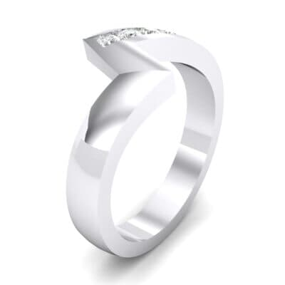 Asymmetrical Channel-Set Crystals Ring