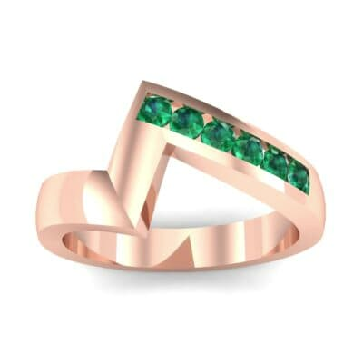 Asymmetrical Channel-Set Emerald Ring (0.24 Carat)