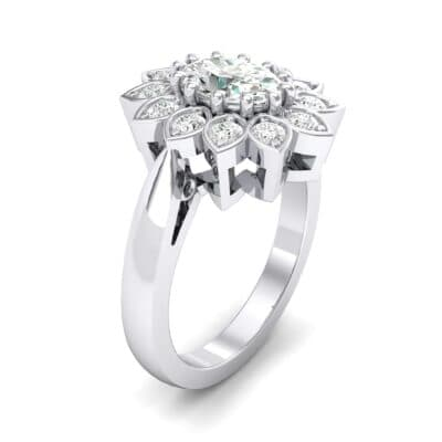 Dahlia Halo Crystals Engagement Ring (0.79 Carat)