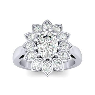Dahlia Halo Diamond Engagement Ring (0.79 Carat)