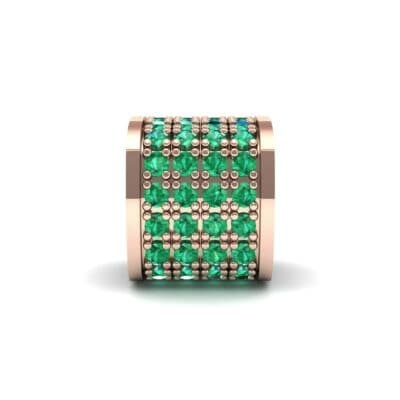 Pave Emerald Drum Charm (0.5 Carat)
