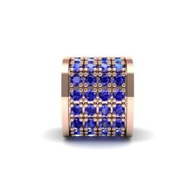 Pave Blue Sapphire Drum Charm (0.5 Carat)