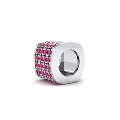 Pave Ruby Drum Charm (0.5 CTW) Top Dynamic View