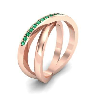 Crisscross Emerald Ring (0.26 Carat)