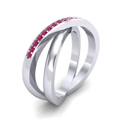 Crisscross Ruby Ring (0.26 Carat)