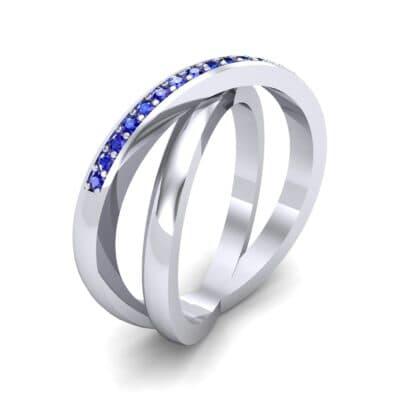 Crisscross Blue Sapphire Ring (0.26 Carat)