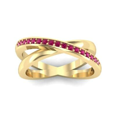 Crisscross Ruby Ring (0.26 Carat)