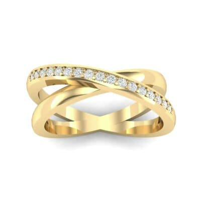 Crisscross Diamond Ring (0.17 Carat)
