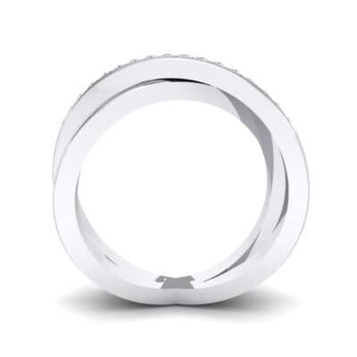 Crisscross Crystal Ring (0.17 CTW) Side View