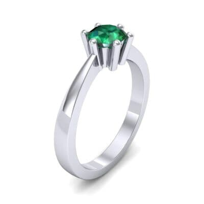 Six-Prong Emerald Engagement Ring (0.93 Carat)