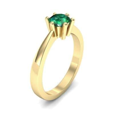 Six-Prong Emerald Engagement Ring (0.93 Carat)