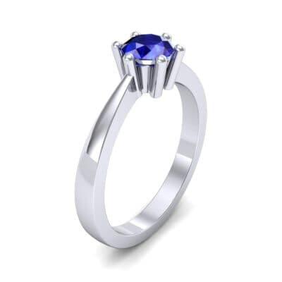 Six-Prong Blue Sapphire Engagement Ring (0.93 Carat)