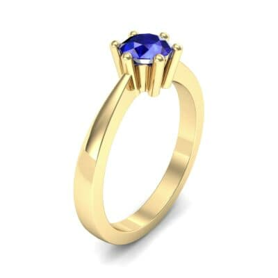 Six-Prong Blue Sapphire Engagement Ring (0.93 Carat)