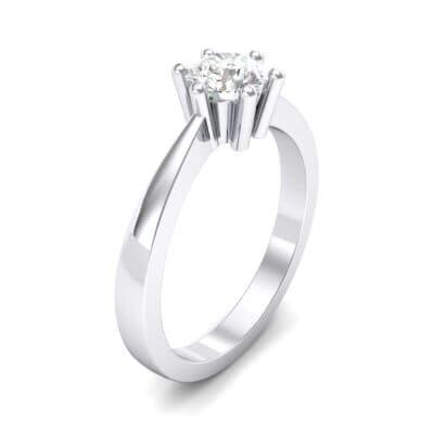 Six-Prong Crystals Engagement Ring (0.93 Carat)