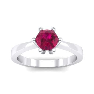 Six-Prong Ruby Engagement Ring (0.93 Carat)