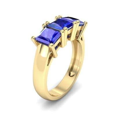Princess-Cut Triplet Blue Sapphire Engagement Ring (2.55 Carat)
