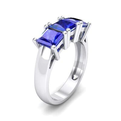 Princess-Cut Triplet Blue Sapphire Engagement Ring (2.55 Carat)