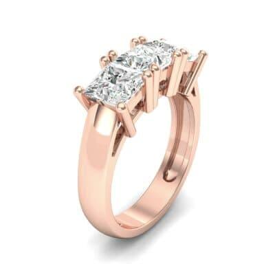 Princess-Cut Triplet Diamond Engagement Ring (2.25 Carat)