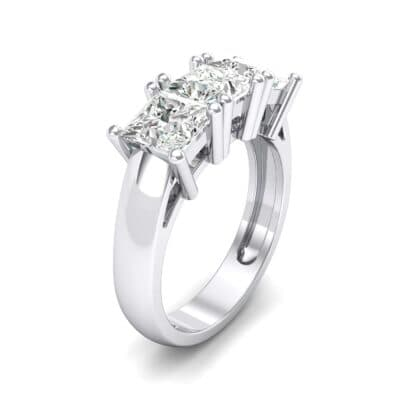 Princess-Cut Triplet Crystal Engagement Ring