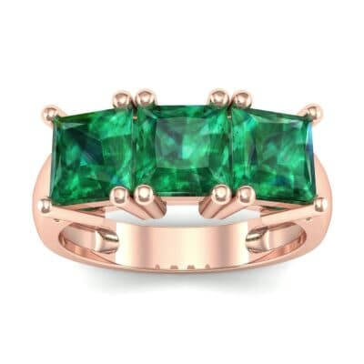 Princess-Cut Triplet Emerald Engagement Ring (2.55 Carat)