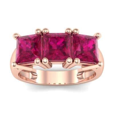 Princess-Cut Triplet Ruby Engagement Ring (2.55 Carat)