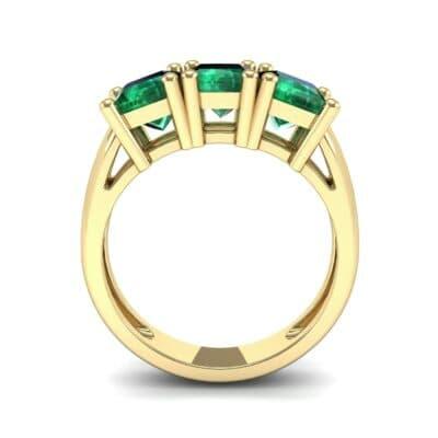 Princess-Cut Triplet Emerald Engagement Ring (2.55 CTW) Side View