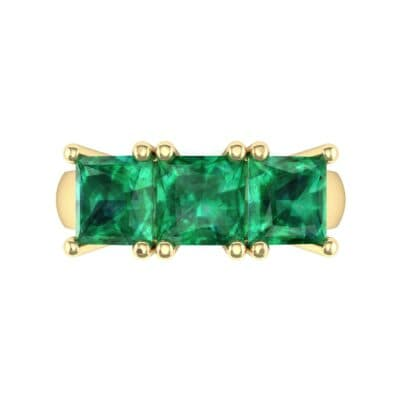 Princess-Cut Triplet Emerald Engagement Ring (2.55 CTW) Top Flat View