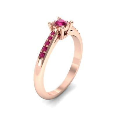 Petite Illusion-Set Ruby Engagement Ring (0.23 Carat)