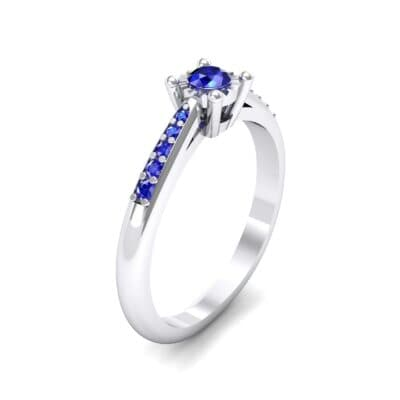 Petite Illusion-Set Blue Sapphire Engagement Ring (0.23 Carat)