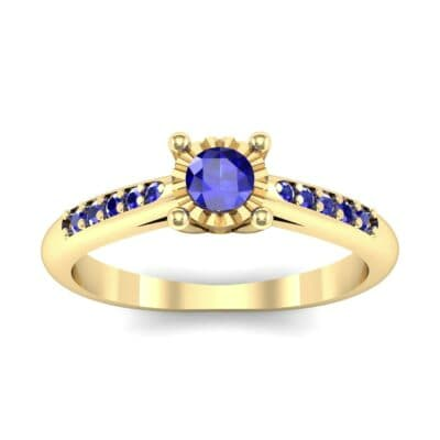 Petite Illusion-Set Blue Sapphire Engagement Ring (0.23 Carat)