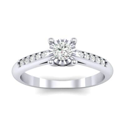 Petite Illusion-Set Diamond Engagement Ring (0.26 Carat)