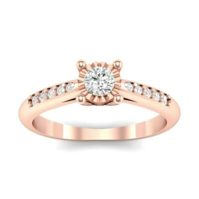 Petite Illusion-Set Diamond Engagement Ring (0.26 Carat)