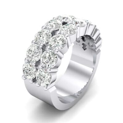 Two-Row Shared Prong Crystals Ring (4 Carat)