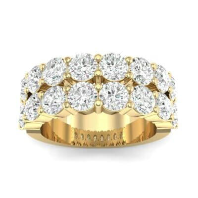 Two-Row Shared Prong Diamond Ring (4 Carat)