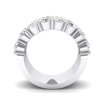 Two-Row Shared Prong Crystal Ring (4 CTW) Side View
