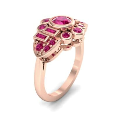 Abstract Ruby Shield Engagement Ring (1.5 Carat)