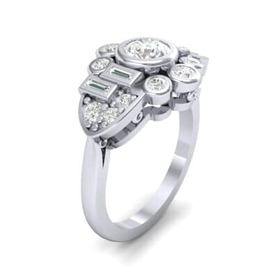 Abstract Diamond Shield Engagement Ring (1.11 Carat)