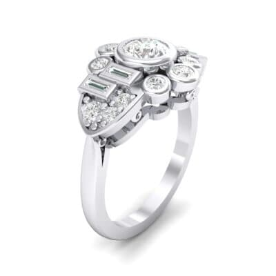 Abstract Crystal Shield Engagement Ring (1.11 CTW)