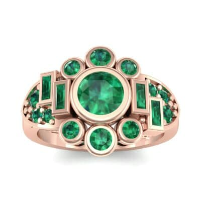 Abstract Emerald Shield Engagement Ring (1.5 Carat)