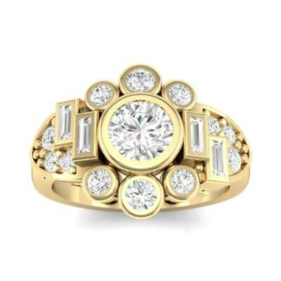 Abstract Diamond Shield Engagement Ring (1.11 Carat)